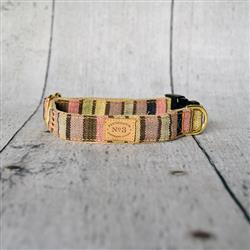 Mocha Pastel Stripe Collars and Leads