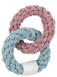 Aussie Naturals CHOY Natural Rope Rings W/ Water Buffalo Femur Dog Toy