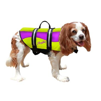 PAWZ Neoprene Pet Life Jacket Vest for Dogs | Yellow/Purple - 5 Sizes