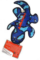 "16"" Medium Blue Gecko Plush Dog Toy – Tough Stitched – Durable Construction"