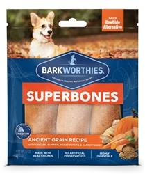 Barkworthies SuperBone Ancient Grain Chicken Pumpkin Sweet Potato Carrot (3 Count)