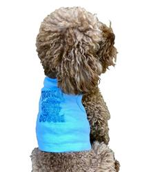 Tropical Dog Tank top in blue
