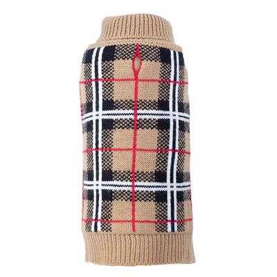 Tan Plaid Sweater