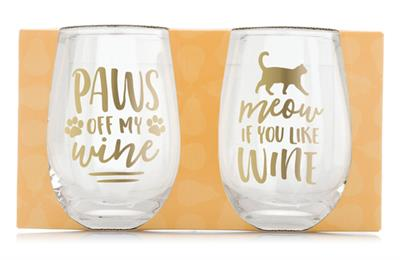 Pearhead Cat Lover's Glass Set