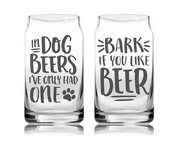 Pearhead Dog Lover's Glass Set