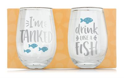 Pearhead Fish Lover's Glass Set