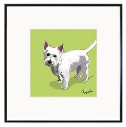 Framed Print: West highland Terrier Standing