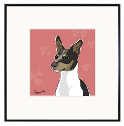 Framed Print: Rat Terrier