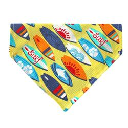 Surf's Up! Dog Bandana - Over the Collar Style in 5 Sizes |  BUY 5 GET 6th FREE