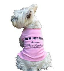 You're Just Jealous I'm a Purebred! tee, pink