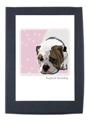 English Bulldog - Grrreen Boxed Note Cards