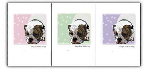 English Bulldog - Grrreen Boxed Note Cards