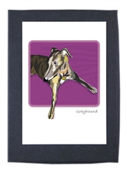 Greyhound, Brindle - Grrreen Boxed Note Cards