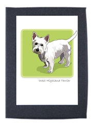 West Highland Terrier - Grrreen Boxed Note Cards