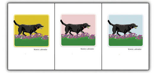 Lab, Black Running - Grrreen Boxed Note Cards
