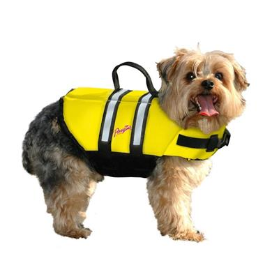 PAWZ Yellow Nylon Pet Life Jacket Vest for Dogs - 2 Sizes LG or XL