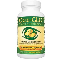 Ocu-GLO for MEDIUM to LARGE Dogs (90 Gelcaps) - Optimal Vision Support