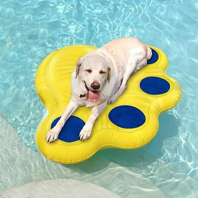 """Paws Aboard Doggy Lazy Raft - LARGE (50"""" x 39"""" )"""