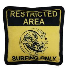 Restricted Area Plush Dog Toy