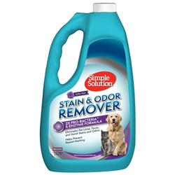 Simple Solution Pet Stain and Odor Remover | Enzymatic Cleaner with 2X Pro-Bacteria Cleaning Power - Gallon - Floral Fresh Scent