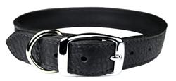 Black Onyx Luxe Leather Dog Collar / Lead