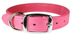 Flamingo Luxe Leather Dog Collar / Lead