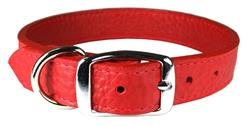 Ruby Luxe Leather Dog Collar / Lead