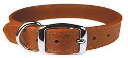 Tobacco Luxe Leather Dog Collar / Lead