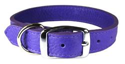 Violet Luxe Leather Dog Collar / Lead