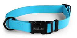 Light Blue Carnival Biothane Dog Collar / Lead