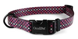 Polka Neon Attitudz Biothane Dog Collar / Lead