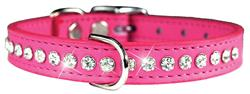Pink Signature Leather Crystal Collar