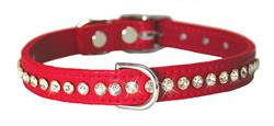 Red Signature Leather Crystal Collar