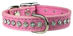 Rose Signature Leather Crystal Collar