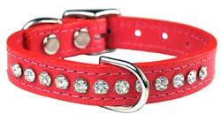 Salmon Signature Leather Crystal Collar