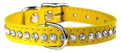 Yellow Signature Leather Crystal Collar