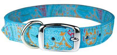 Turquoise Paisley Leather Collection