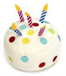 "Birthday Cake 6"" One Size Plush Dog Squeak Toy"
