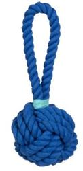 "Blue Celtic Knot with Aqua Tie 4 1/2"" Rope Toy"