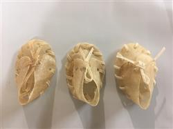 "2"" Mini Natural Rawhide Shoe"