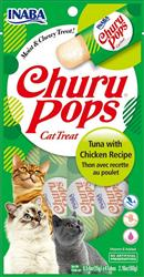 Inaba Ciao Churu Pops 4 pack Tuna with Chicken