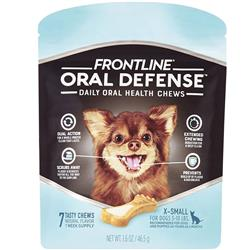 Frontline Oral Defense Daily Oral Health Chews for Extra-Small Dogs - 5-10 lbs (7 count)