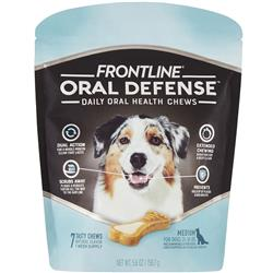 Frontline Oral Defense Daily Oral Health Chews for Medium Dogs - 25-50 lbs (7 count)