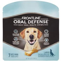 Frontline Oral Defense Daily Oral Health Chews for Large Dogs - Over 50 lbs (7 count)