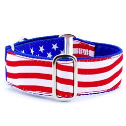 Stars and Stripes Satin Lined Collars & Leads