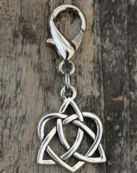 Celtic Heart Dog Collar Charm - Silver