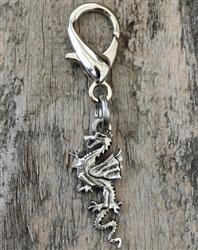 Pewter Dragon Dog Collar Charm