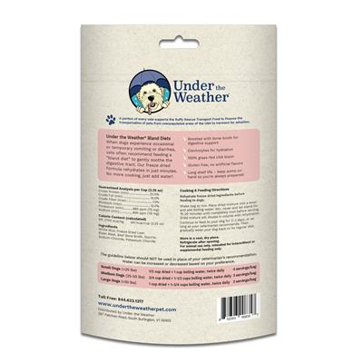 Rice, Bison, & Bone Broth for Dogs - 6.5oz bags of meal mix by Under the Weather