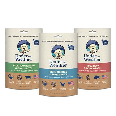 Rice, Hamburger, & Bone Broth for Dogs - 6.5oz bags of meal mix by Under the Weather