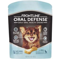 Frontline Oral Defense Daily Oral Health Chews for Extra-Small Dogs - 5-10 lbs (14 count)